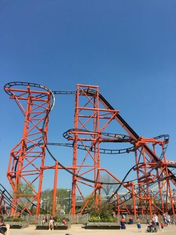 Mumbo Jumbo rollercoaster at Flamingo Land
