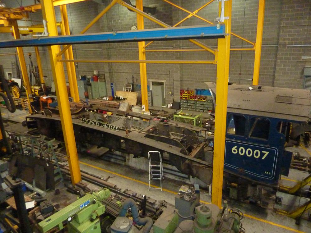 Sir Nigel Gresley in the National Railway Museum Workshop