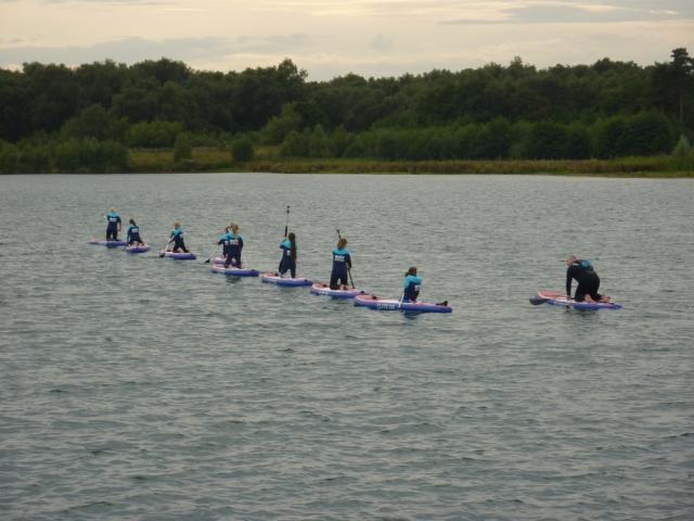 Outdoor fun paddleboarding at Wykeham Lakes