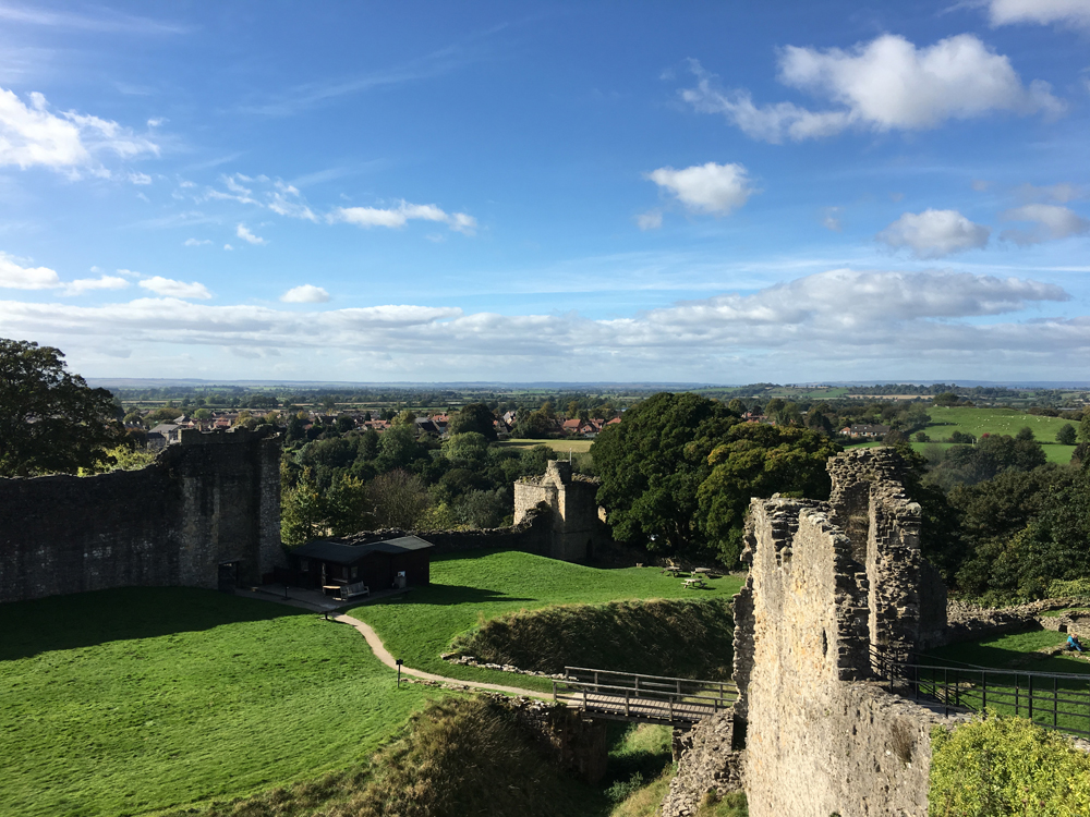 Views of Pickering and surrounding countryside from Pickering Castle