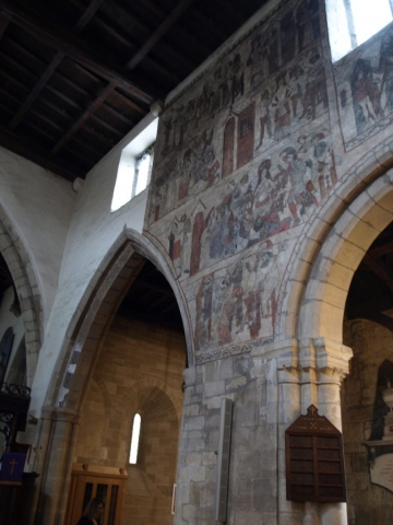 Pickering Parish Church houses a collection of medieval wall paintings