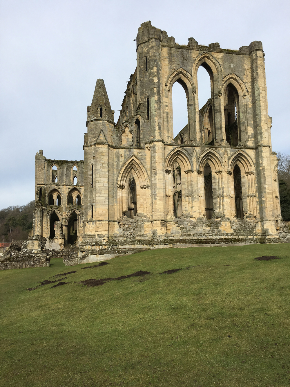 Rievaulx Abbey, a cistercian abbey near Helmsley in the North York Moors National Park