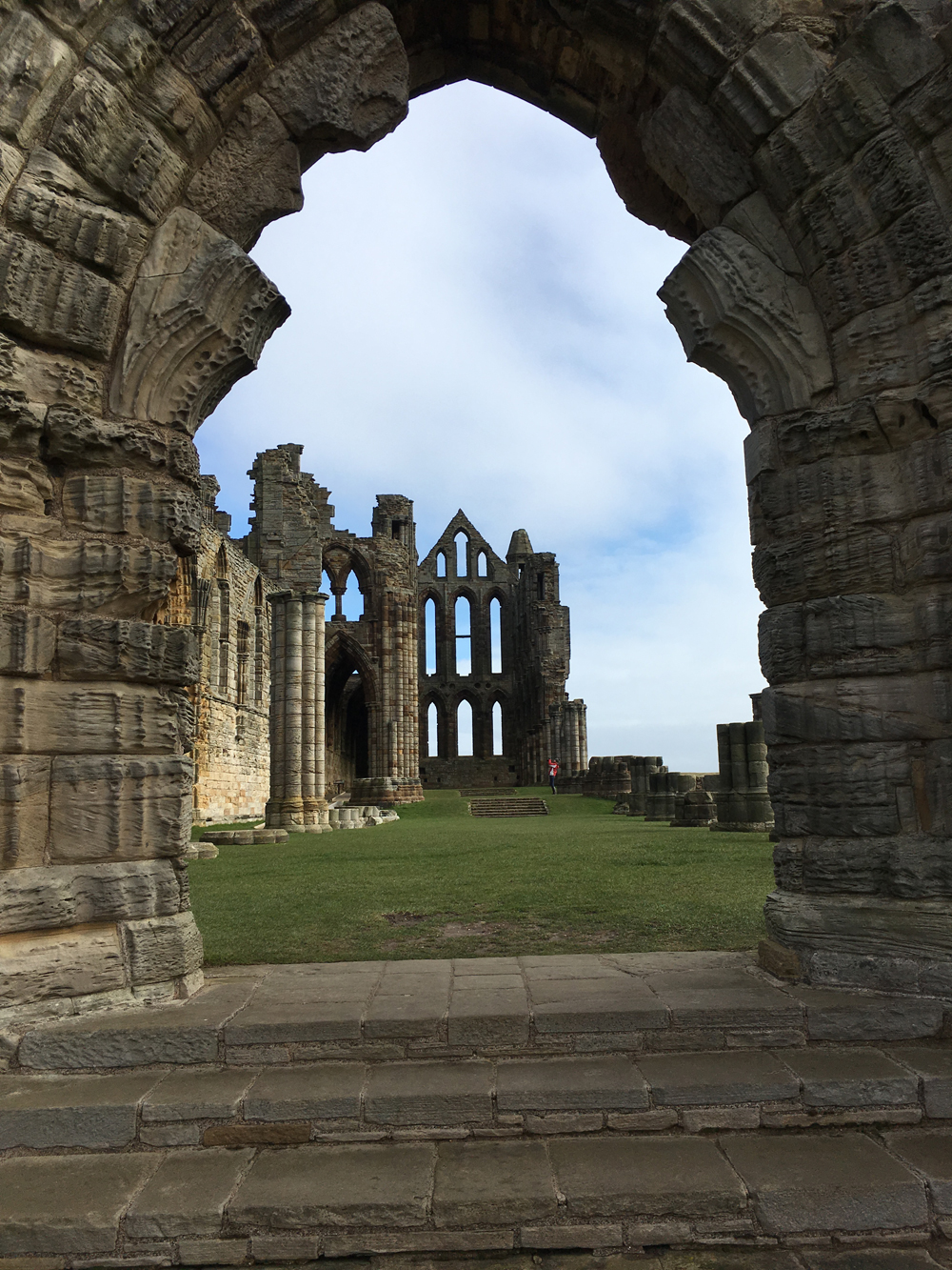 Whitby Abbey - walk up the famous 199 steps to reach the East Cliffs with the Abbey